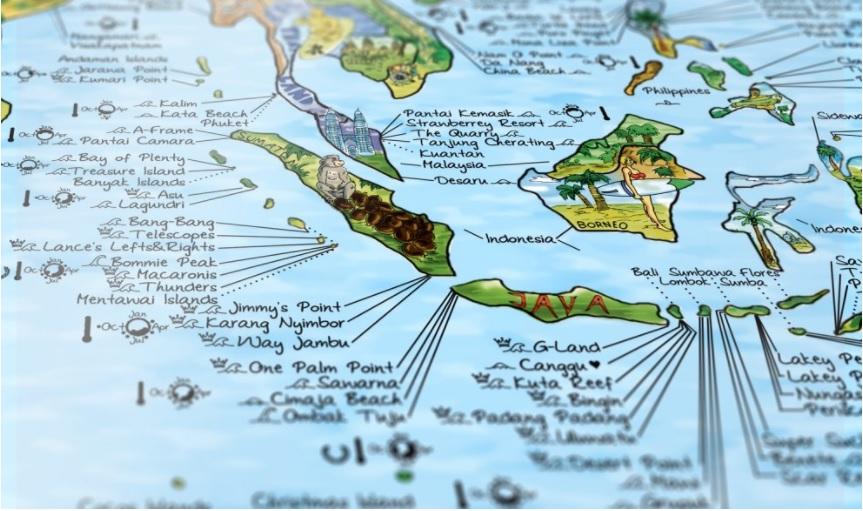 Surftrip Map, los mejores spots del planeta en un mapa