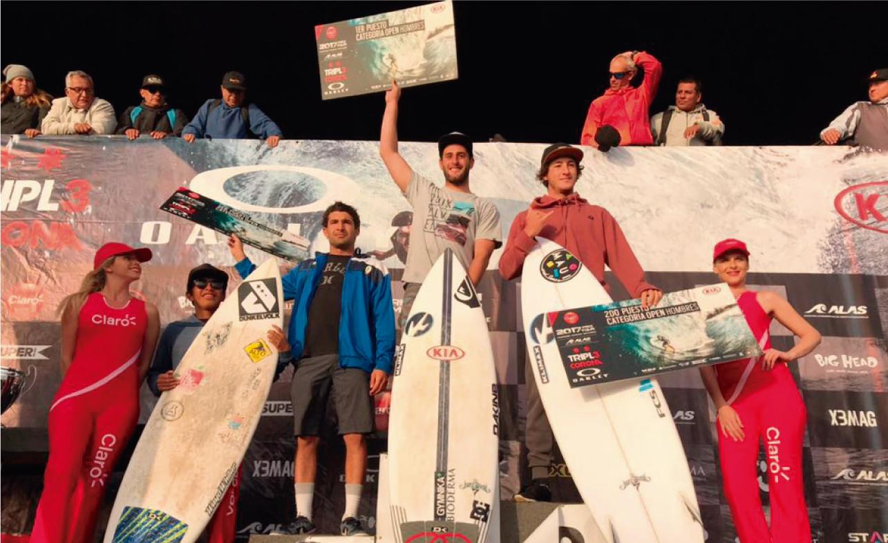 Sebastián Correa y Daniella Rosas los nuevos campeones latinoamericanos de surf 2017