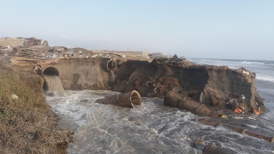 Tuberías de desagüe colapsan en balneario de Buenos Aires (La Libertad) debido a erosión