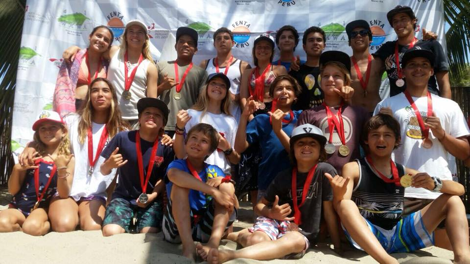Ellos son los campeones del Circuito Nacional de Surf de Menores 2017