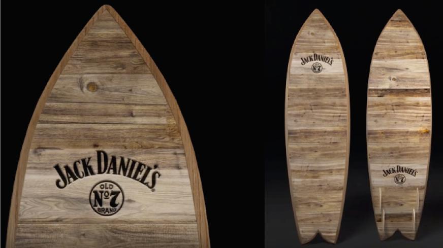 Jack Daniel's convierte sus barriles en tablas de surf