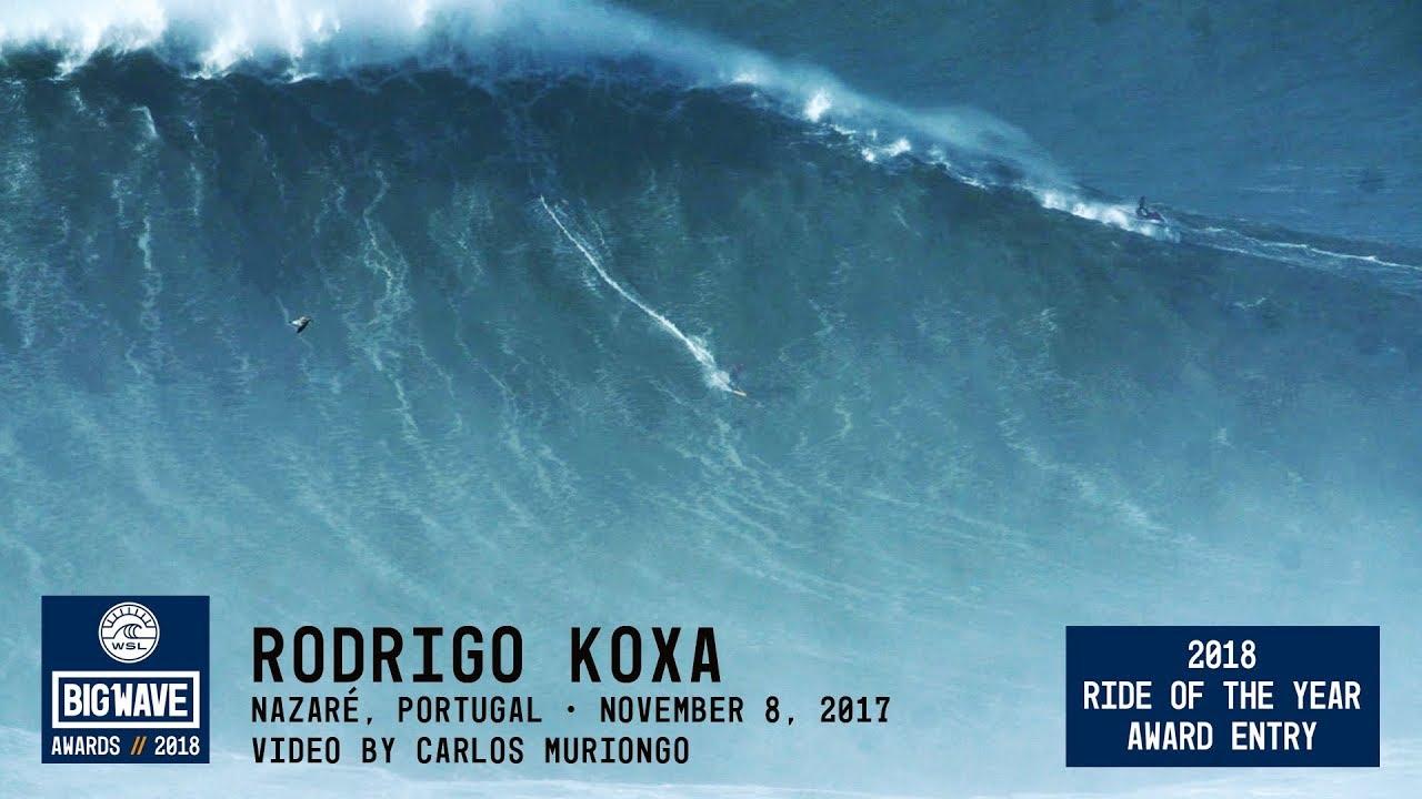 Brasilero Rodrigo Koxa reclama record de mayor ola nunca antes surfeada