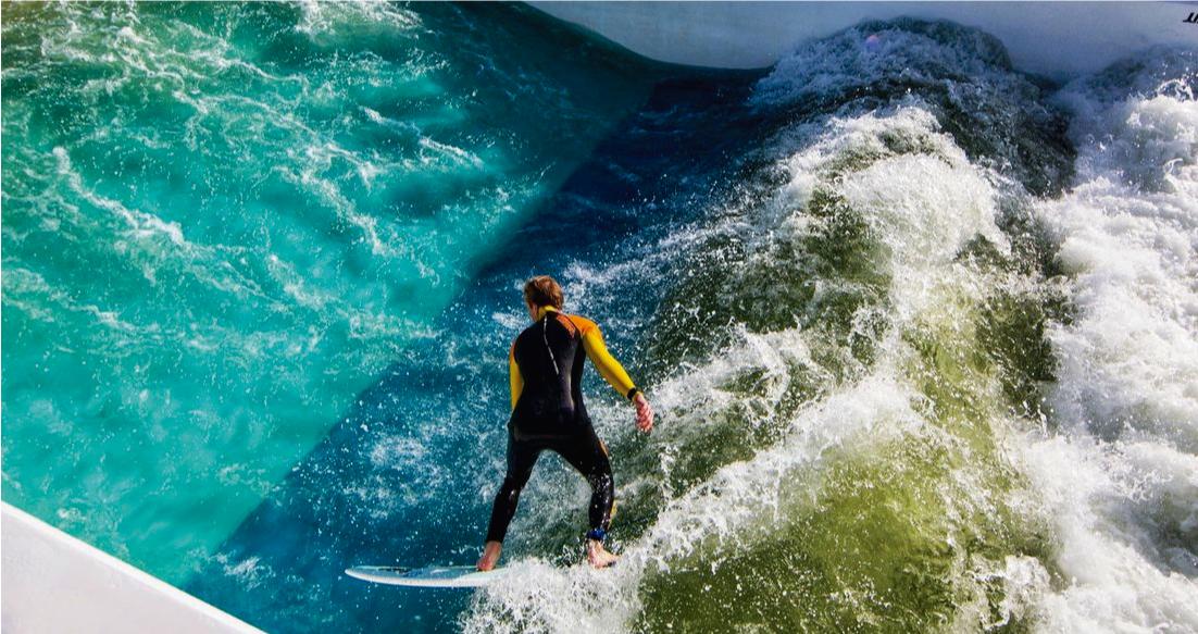 Adiós Wavegarden. Esta es una nueva opción de piscina de olas portátil.