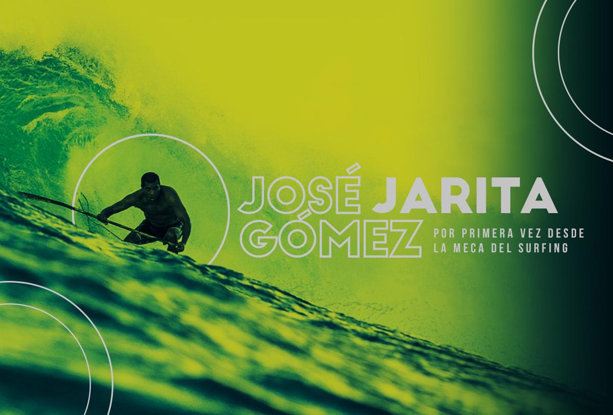 José Jarita Gómez, por primera vez desde la meca del surfing
