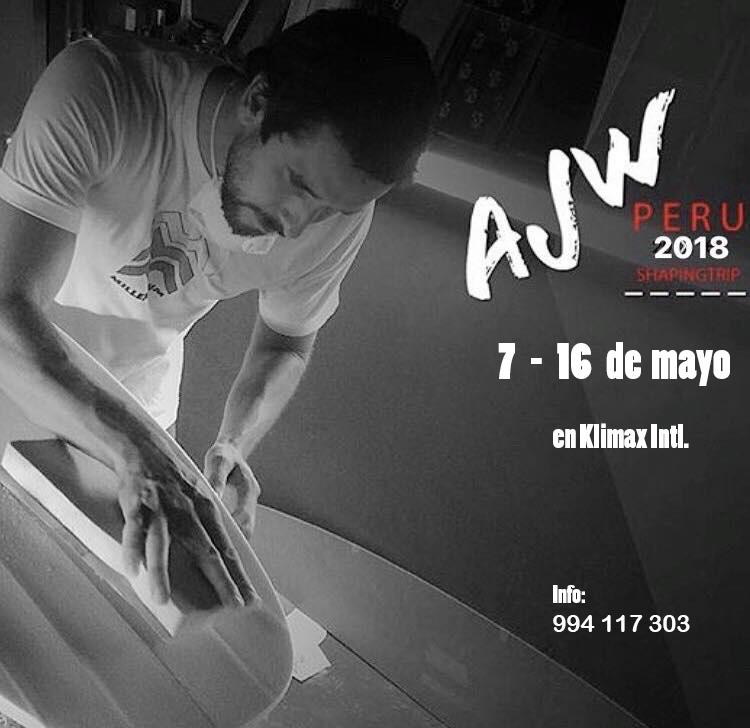 AJW Surfboards llega a Lima para shapear tablas personalizadas del 7 al 16 de mayo