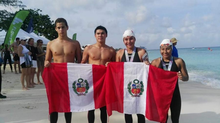 Equipo peruano destaca en Panamericano de Aguas Abiertas