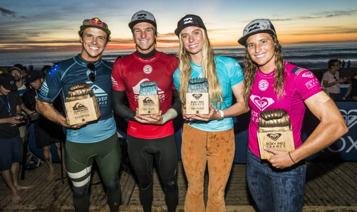 Quik & Roxy Pro: Julian Wilson y Courtney Conlogue ganan en Francia