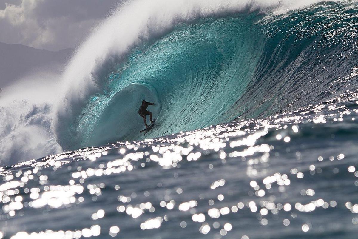 Túnel Hawaiano, Martin Jeri en Pipeline