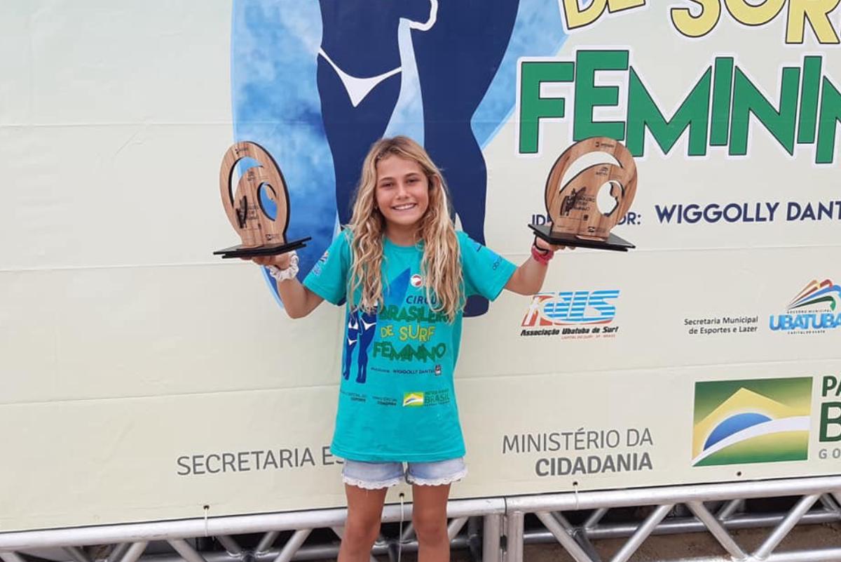 Catalina Zariquiey se lleva el título Sub 10 del circuito brasileño de surf